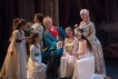 Trajan (Aaron Sheehan) and the children of the future with Gabrielle Philiponet as Plautine and a Muse